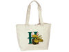 BS133 - Canvas Zippered Tote Bag
