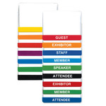 MH104 - 4 x 3 Vinyl Color & Title Bar Name Tag Holder with Pin/Clip-Blank