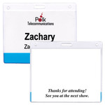 MH208 - 4 x 3 Vinyl Translucent Color Bar Name Tag Holder with Slot-Blank