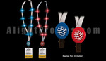 10910 - Flashing Lanyards with Imprintable Blue Badge Clasp