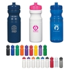 5899 - Poly-Clear  24 Oz. Fitness Bottle-solid colors