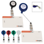 65 - Retractable Badge Holder With Laminated Label