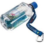 "WBSR34SM.CAR - 3/4"" RPET Dye Sublimated Water Bottle Strap with Carabiner"