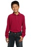 Y320 - Port Authority - Youth Long Sleeve Pique Knit Polo