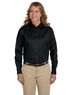 M500W - Harriton Women's Long Sleeve Twill with Stain Release