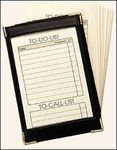 2550FN - Standard Note Jotter with Brass Corners (with 50 Pre-Pak) - Florentine Napa