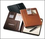 30001BL - Writing Pad Holder with Pneumatic Calculator - Bonded Leather