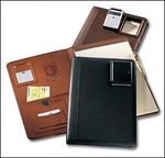30081GL - Legal Size Pad Holder with Pneumatic Calculator - Genuine Leather