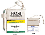 PMS-BH600C -  PMSI Certified Organic Cotton Badgeholder